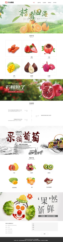 健康果蔬产品网站模板