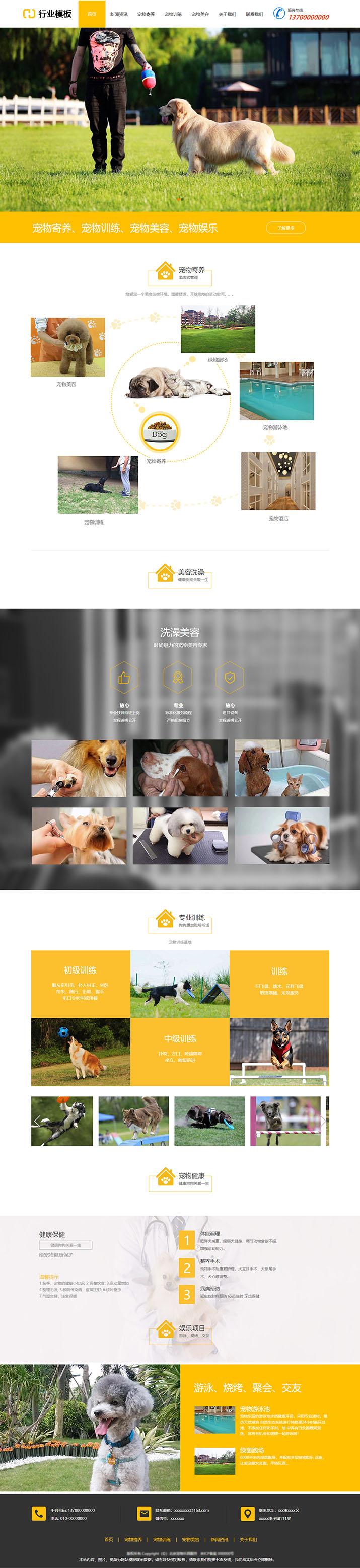 专业宠物机构企业模板